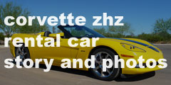 chevrolet corvette zhz convertible rental car