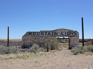 Abandoned roadside attraction for Mountain Lions in Two Guns, AZ. Photo from 2013.